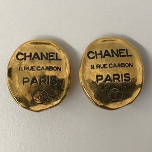Vintage Chanel Earrings 31 Rue Cambon Paris